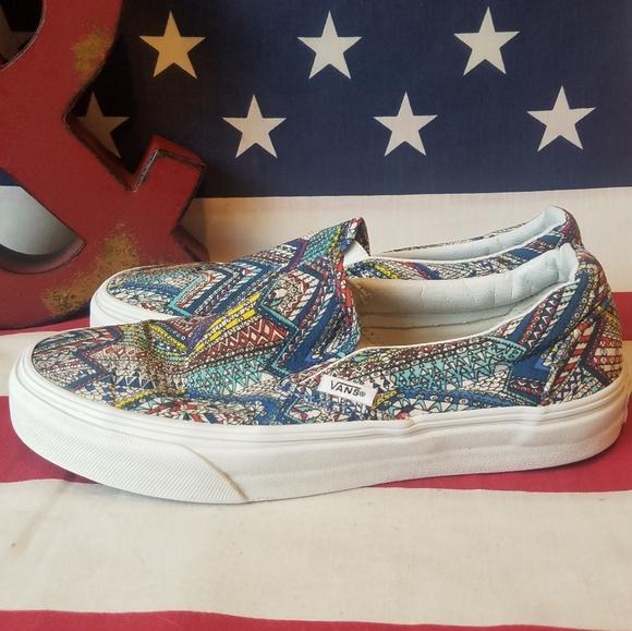 Vans Shoes | Multicolored Slip On